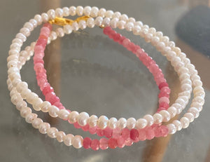 PINK LADY TRIPLE WRAP BRACELET