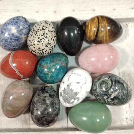 Egg Assorted Gemstone Approx 2in