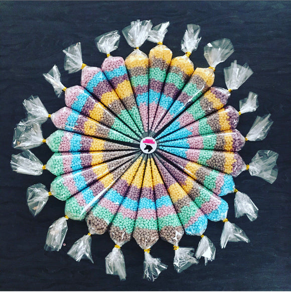 10 x Rainbow 'One in a Million' Sweet Cones - 170g