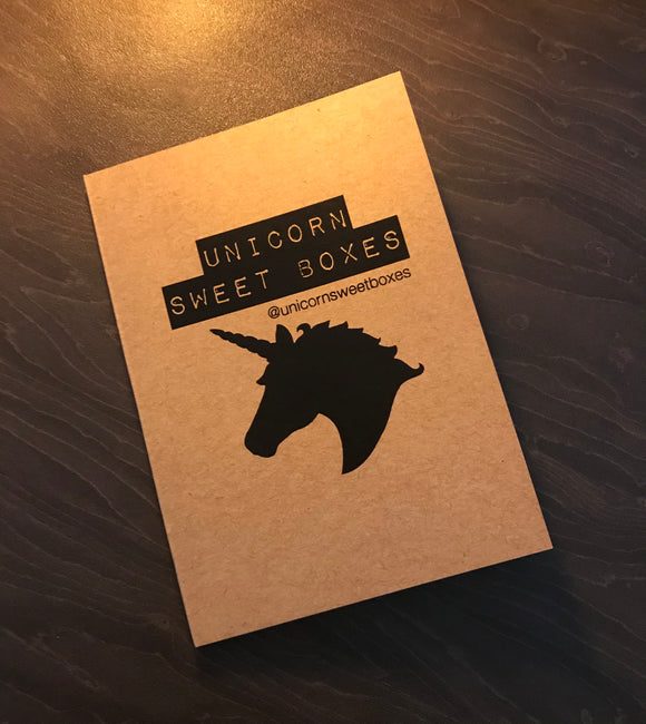 Unicorn Sweet Boxes - A6 Eco Notebook