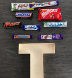 Chocolate Bar Filled Initial - T