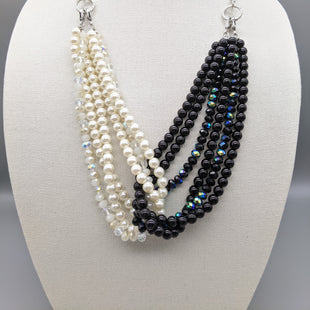 Primary Photo - BRAND: PREMIER DESIGNS STYLE: NECKLACE COLOR: PEARL OTHER INFO: BLACK WHITE PEARLS SKU: 115-115314-9909