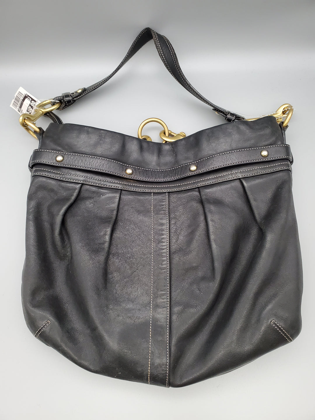Photo #1 - BRAND: COACH <BR>STYLE: HANDBAG <BR>COLOR: BLACK <BR>SIZE: LARGE <BR>OTHER INFO: ** <BR>SKU: 115-115260-86463<BR>MODERATE WEAR ON LEATHER
