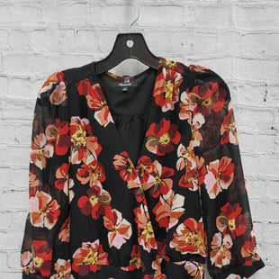 Primary Photo - BRAND: MADEWELL STYLE: BLOUSE COLOR: BLACK SIZE: S OTHER INFO: FLORAL SKU: 115-115360-1512