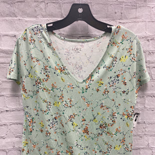 Primary Photo - BRAND: ANN TAYLOR LOFT O STYLE: TOP SHORT SLEEVE COLOR: MINT SIZE: S OTHER INFO: FLORAL SKU: 115-115309-15465