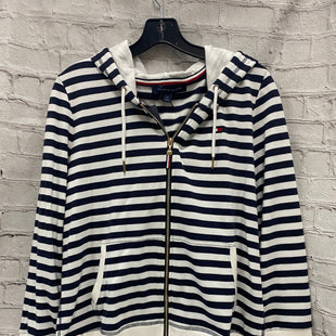 Primary Photo - BRAND: TOMMY HILFIGER STYLE: SWEATSHIRT HOODIE COLOR: BLUE WHITE SIZE: L OTHER INFO: STRIPES SKU: 115-115309-16616