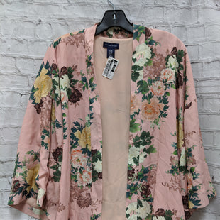Primary Photo - BRAND: ADRIENNE VITTADINI STYLE: SWEATER CARDIGAN LIGHTWEIGHT COLOR: PINK SIZE: S OTHER INFO: FLORAL KIMONO SKU: 115-115347-1268