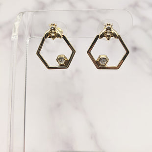 Primary Photo - BRAND:  RJ GRAZIANOSTYLE: EARRINGS COLOR: GOLD OTHER INFO: BEE HEXAGON WITH STUD SKU: 115-115314-7954