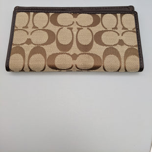 Primary Photo - BRAND: COACH STYLE: WALLET COLOR: TAN SIZE: SMALL OTHER INFO: CHECK HOLDER SKU: 115-115340-3439