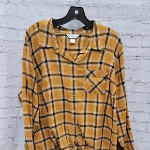 Primary Photo - BRAND: CJ BANKS STYLE: TOP LONG SLEEVE COLOR: MUSTARD SIZE: 2X SKU: 115-115309-19132