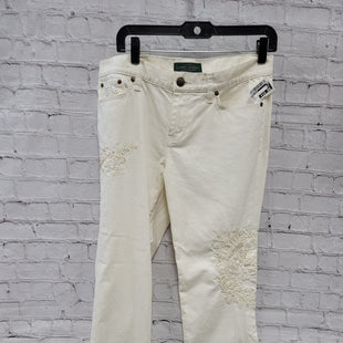 Primary Photo - BRAND: RALPH LAUREN STYLE: PANTS COLOR: CREAM SIZE: 10 OTHER INFO: PETITE SKU: 115-11545-99654