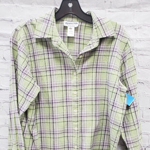 Primary Photo - BRAND: PENDLETON STYLE: TOP LONG SLEEVE COLOR: GREEN PLAID SIZE: S SKU: 115-115335-2552