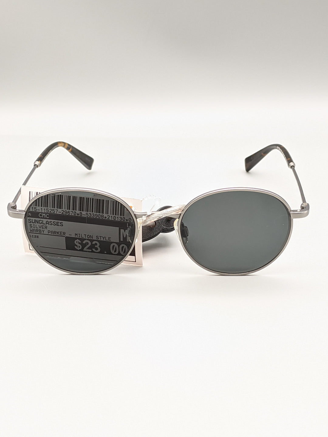 Primary Photo - BRAND:   CMC <BR>STYLE: SUNGLASSES <BR>COLOR: SILVER <BR>OTHER INFO: WARBY PARKER - MILTON STYLE <BR>SKU: 115-115257-29670<BR>SOME VERY SMALL SCRATCHES ON LENSE