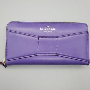 Primary Photo - BRAND: KATE SPADE STYLE: WALLET COLOR: PURPLE SIZE: MEDIUM SKU: 115-115340-1455GOOD CONDITION, MODERATE WEAR TO LEATHER