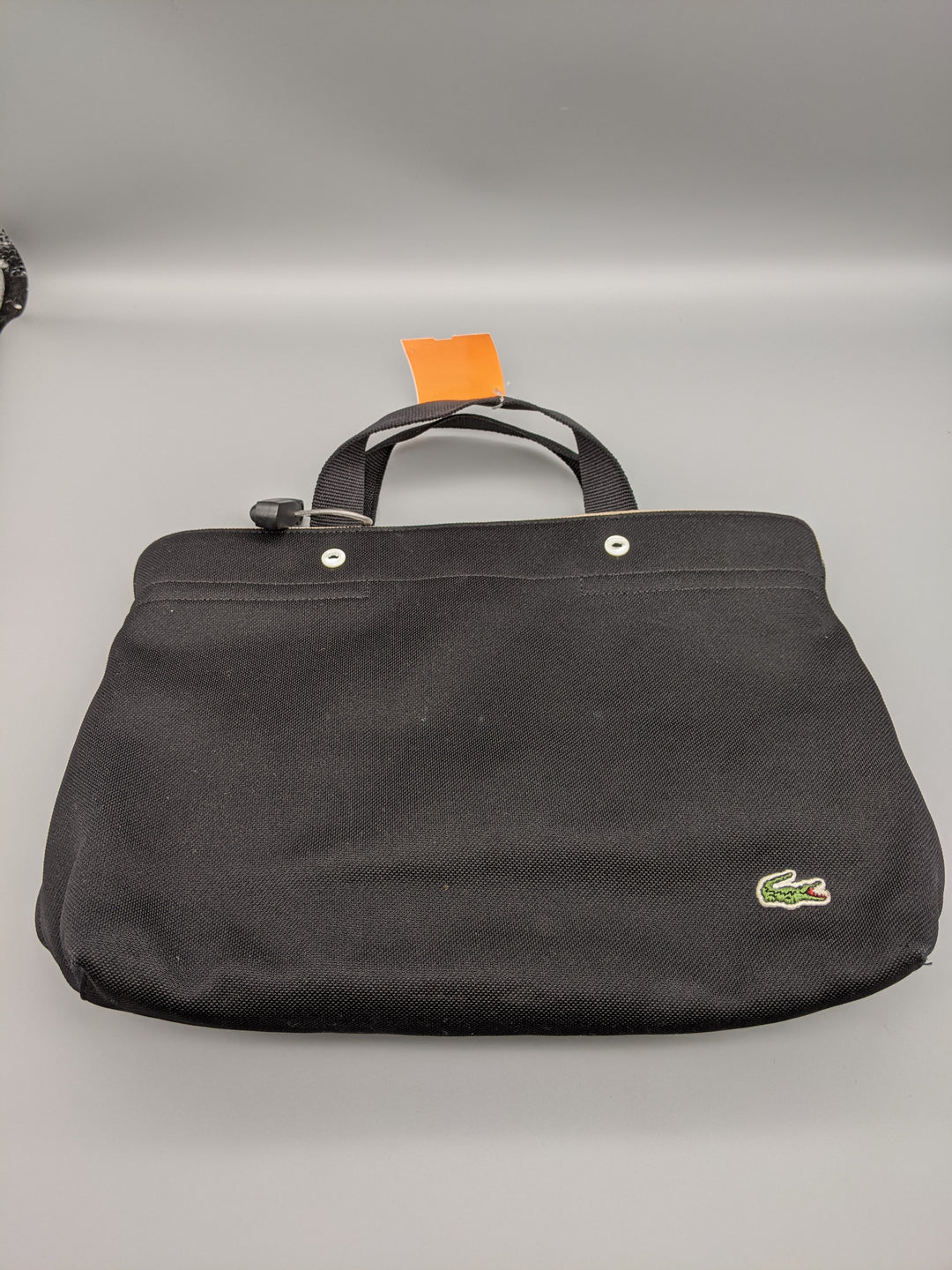 Primary Photo - BRAND: LACOSTE <BR>STYLE: HANDBAG <BR>COLOR: BLACK <BR>SIZE: MEDIUM <BR>SKU: 115-115309-19904<BR>SOME STAINS