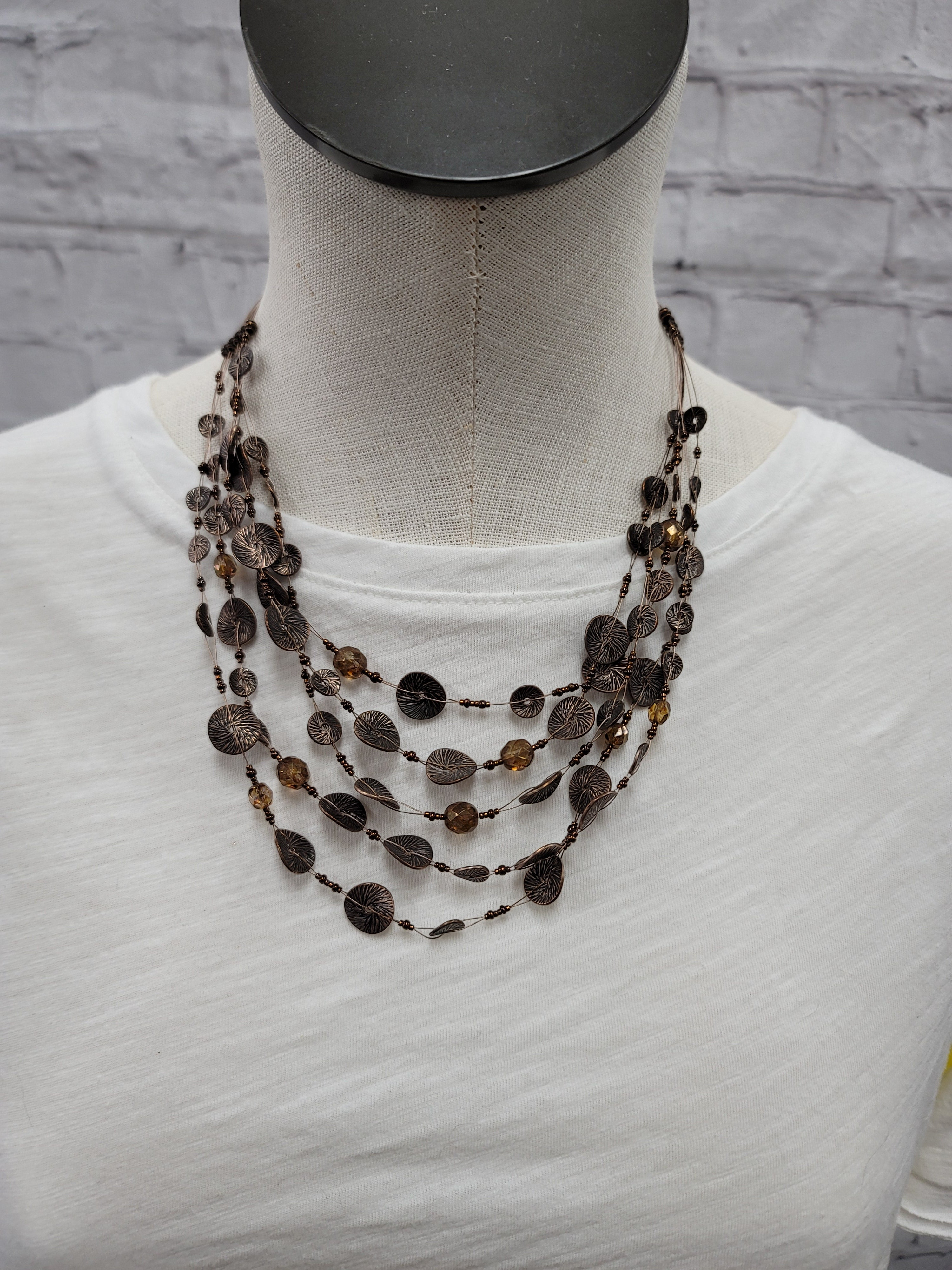 Primary Photo - BRAND: CHICOS <BR>STYLE: NECKLACE <BR>COLOR: BROWN <BR>OTHER INFO: AS IS*** <BR>SKU: 115-115340-4547