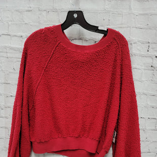Primary Photo - BRAND: FREE PEOPLE STYLE: SWEATER HEAVYWEIGHT COLOR: RED SIZE: XS SKU: 115-115360-1569