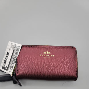 Primary Photo - BRAND: COACH STYLE: WALLET COLOR: MAROON SIZE: SMALL SKU: 115-115257-30494