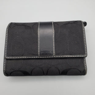 Primary Photo - BRAND: COACH O STYLE: WALLET COLOR: BLACK SIZE: MEDIUM SKU: 115-115347-255GOOD CONDITION, MODERATE WEAR