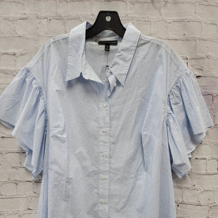 Primary Photo - BRAND: LANE BRYANT STYLE: TOP SHORT SLEEVE COLOR: BLUE WHITE SIZE: 18 SKU: 115-115347-3329