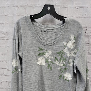 Primary Photo - BRAND: ANN TAYLOR LOFT STYLE: TOP LONG SLEEVE COLOR: GREY SIZE: S SKU: 115-115302-16942