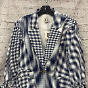 Primary Photo - BRAND: ANNE KLEIN STYLE: BLAZER JACKET COLOR: BLUE WHITE SIZE: L OTHER INFO: GINGHAM SKU: 115-115309-16626