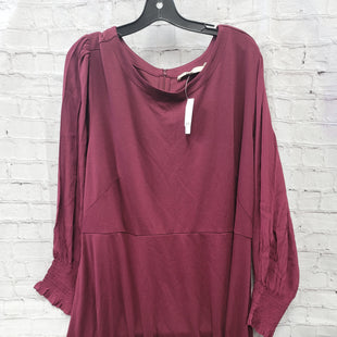 Primary Photo - BRAND: LOFT STYLE: DRESS SHORT LONG SLEEVE COLOR: MAROON SIZE: 3X OTHER INFO: NEW! SKU: 115-115314-11069