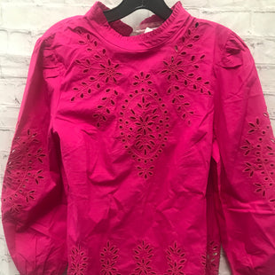 Primary Photo - BRAND: J CREW STYLE: TOP LONG SLEEVE COLOR: HOT PINK SIZE: S OTHER INFO: NWT EYELET LACE SKU: 115-115302-18084