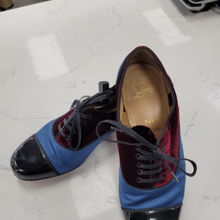 Primary Photo - BRAND: CHRISTIAN LOUBOUTIN STYLE: SHOES FLATS COLOR: BLUE RED SIZE: 9.5 OTHER INFO:  ** COLORBLOCK PATTERNED OXFORD SKU: 115-115314-12430