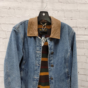 Primary Photo - BRAND: WOOLRICH STYLE: BLAZER JACKET COLOR: DENIM SIZE: S SKU: 115-115360-2537NO CARE TAG, SLIGHT DISCOLORATION