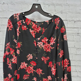 Primary Photo - BRAND: LANE BRYANT STYLE: TOP LONG SLEEVE COLOR: BLACK RED SIZE: 3X OTHER INFO: FLORAL SKU: 115-115309-21351