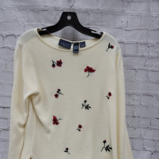Primary Photo - BRAND: CRAZY HORSE STYLE: SWEATER LIGHTWEIGHT COLOR: IVORY SIZE: L OTHER INFO: EMBROIDERED FLOWERS SKU: 115-115309-20361