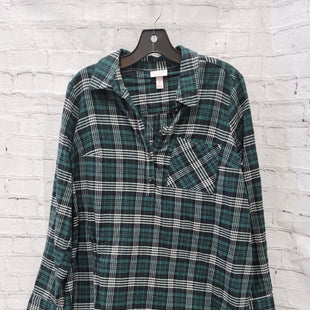 Primary Photo - BRAND: ISABEL MATERNITY STYLE: MATERNITY TOP LONG SLEEVE COLOR: GREEN PLAID SIZE: M SKU: 115-115309-18027