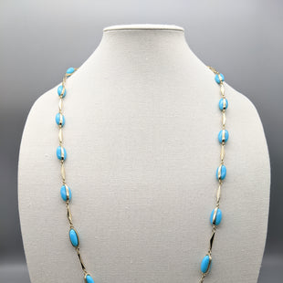 Primary Photo - BRAND: J CREW STYLE: NECKLACE COLOR: TURQUOISE OTHER INFO: GOLD SKU: 115-115309-15644