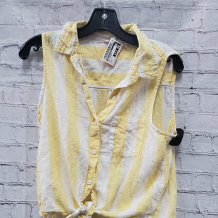 Primary Photo - BRAND: BEACHLUNCHLOUNGE STYLE: TOP SLEEVELESS COLOR: WHITE YELLOW SIZE: S SKU: 115-115340-4681