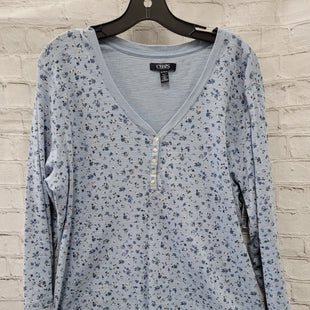 Primary Photo - BRAND: CHAPS STYLE: TOP LONG SLEEVE COLOR: BLUE SIZE: 2X OTHER INFO: FLORAL SKU: 115-115340-2645