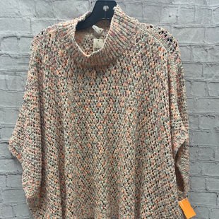 Primary Photo - BRAND: ANTHROPOLOGIE STYLE: SWEATER LIGHTWEIGHT COLOR: WHITE SIZE: ONESIZE OTHER INFO: PURPLE, ORANGE SKU: 115-115338-4010