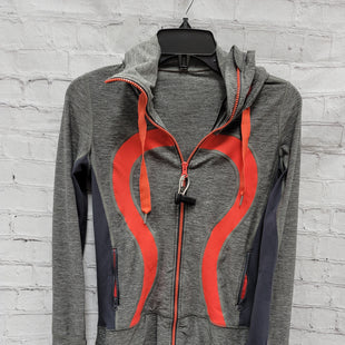 Primary Photo - BRAND: LULULEMON STYLE: ATHLETIC JACKET COLOR: GREY SIZE: 4 OTHER INFO: RED ACCENTS SKU: 115-115314-10210