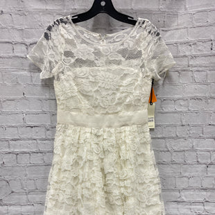 Primary Photo - BRAND: BB DAKOTA STYLE: DRESS SHORT SHORT SLEEVE COLOR: IVORY SIZE: S OTHER INFO: NWT LACE SKU: 115-115302-18679