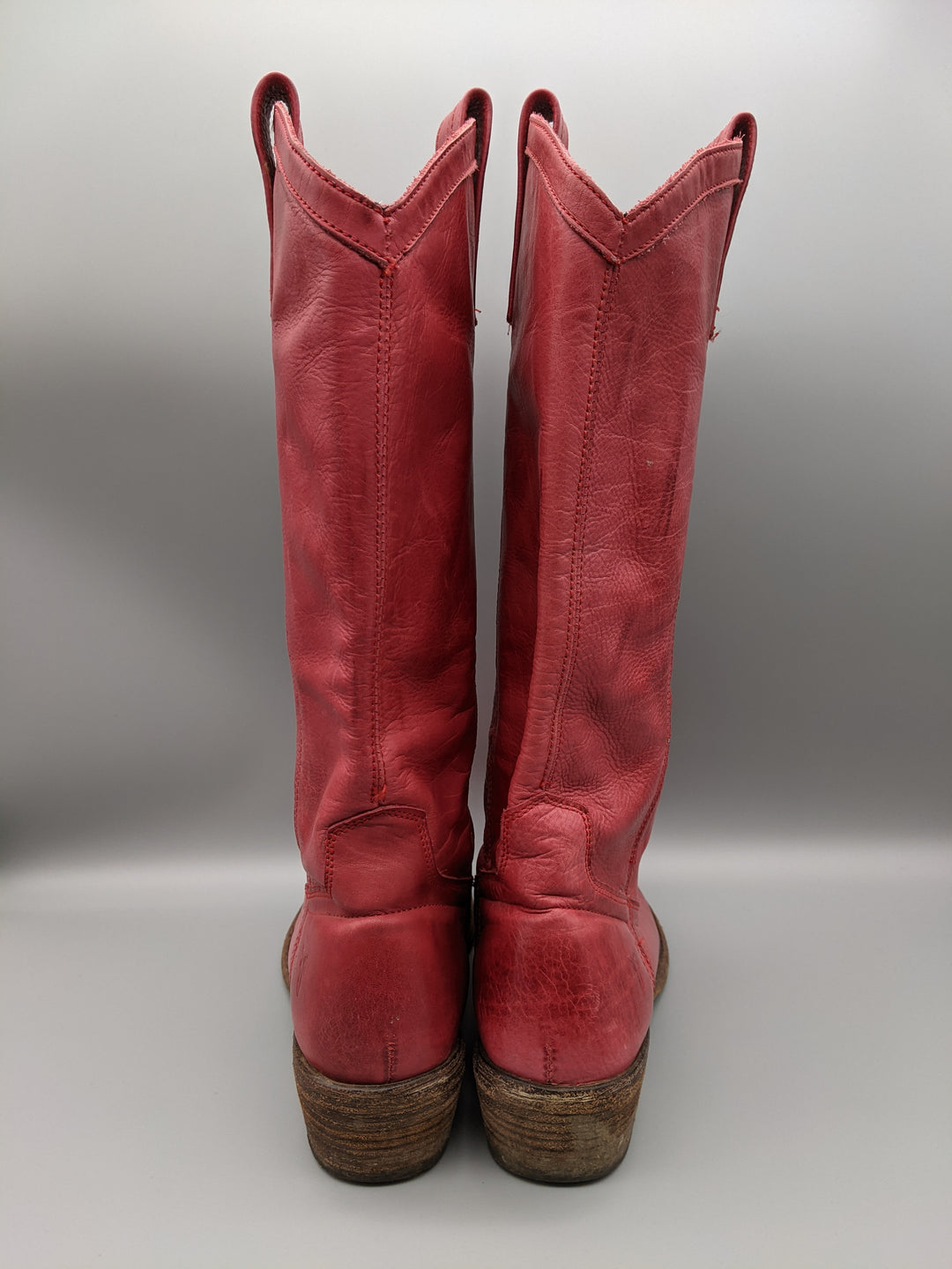 Photo #2 - BRAND: FRYE <BR>STYLE: BOOTS KNEE <BR>COLOR: RED <BR>SIZE: 6.5 <BR>SKU: 115-115336-4192<BR>SOME WEAR