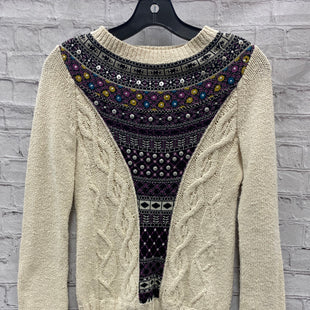 Primary Photo - BRAND: ANTHROPOLOGIE STYLE: SWEATER LIGHTWEIGHT COLOR: CREAM SIZE: XS OTHER INFO: ANGEL IN THE NORTH SKU: 115-115314-9673