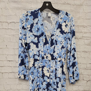 Primary Photo - BRAND: OLD NAVY STYLE: DRESS SHORT LONG SLEEVE COLOR: BLUE SIZE: XS OTHER INFO: FLORAL SKU: 115-115338-2639