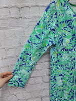 Photo #2 - BRAND: LILLY PULITZER <BR>STYLE: DRESS SHORT LONG SLEEVE <BR>COLOR: BLUE GREEN <BR>SIZE: XS <BR>SKU: 115-115338-4358