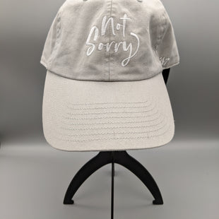 Primary Photo - BRAND:    CLOTHES MENTOR STYLE: HAT COLOR: GREY OTHER INFO: NOT SORRY - SKU: 115-115302-18279