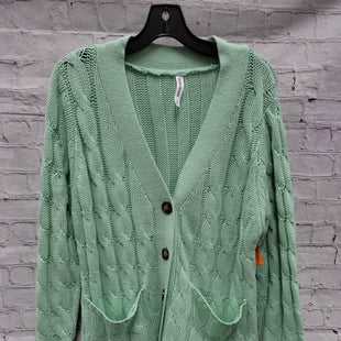 Primary Photo - BRAND: ZENANA OUTFITTERS STYLE: SWEATER CARDIGAN LIGHTWEIGHT COLOR: MINT SIZE: 1X SKU: 115-115302-18025