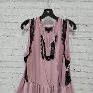 Primary Photo - BRAND: LANE BRYANT STYLE: TOP SLEEVELESS COLOR: MAUVE SIZE: 2X OTHER INFO: BLACK LACE SKU: 115-115309-21371