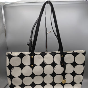 Primary Photo - BRAND: BRAHMIN STYLE: HANDBAG COLOR: BLACK WHITE SIZE: MEDIUM SKU: 115-115360-2316. SOME STAINS.