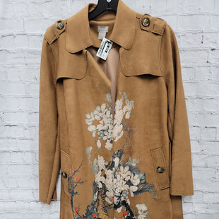 Primary Photo - BRAND: CHICOS STYLE: COAT LONG COLOR: TAN SIZE: S OTHER INFO: FLORAL PRINT SKU: 115-115360-1142