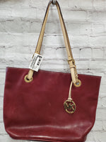Primary Photo - BRAND: MICHAEL BY MICHAEL KORS <BR>STYLE: HANDBAG <BR>COLOR: BURGUNDY <BR>SIZE: MEDIUM <BR>SKU: 115-115336-3448