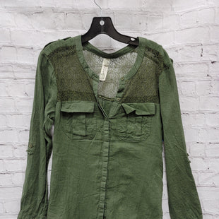 Primary Photo - BRAND: FREE PEOPLE STYLE: TOP LONG SLEEVE COLOR: GREEN SIZE: S SKU: 115-115336-4051